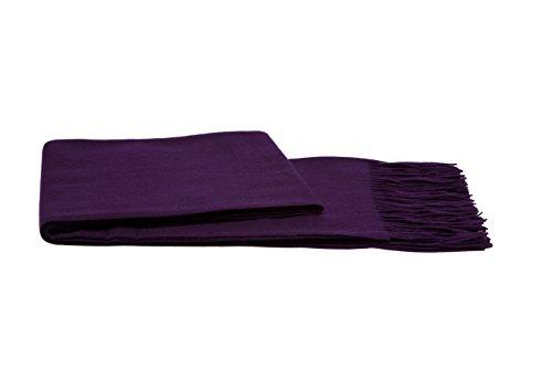 Find Bargain a & R Cashmere 100VIO 100% Cashmere Throw, African Violet