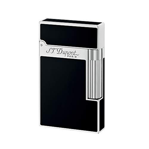 S.T.Dupont (エス・テー・デュポン)ライター(ライン2)クラシカルシルバーパラディウムプレート(黒漆)16296 [正規品]