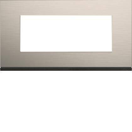 Placa de acabado, 5 módulos Gallery de aluminio, distancia entre ejes 71 mm, aluminio antiguo, WXP4505