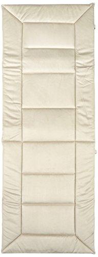 greemotion Relaxauflage 122253, XL-Auflage in einem sand Farbton, Stuhlauflage aus 100% Polyester mit hochwertiger Vliesfüllung, Alcastyle Oberfläche, strapazierfähiger Stuhlbezug, welcher sich optimal dem Rücken anpasst, die Maße der Auflage betragen ca. 160 x 57 x 4 cm