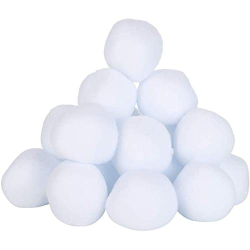 WDMDLZFD 2020 Neues 50er Pack Indoor-schneebälle Indoor-kampfspiel Fake Snowball Fit Allwetter Künstliche Schneebälle Kinder