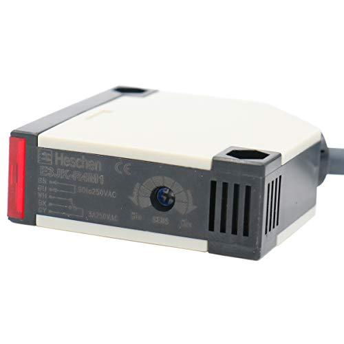Interruptor fotoeléctrico de Heschen E3JK-R4M1CA 90–250V CA con iluminación y detección a 4m de distancia, con panel reflector.