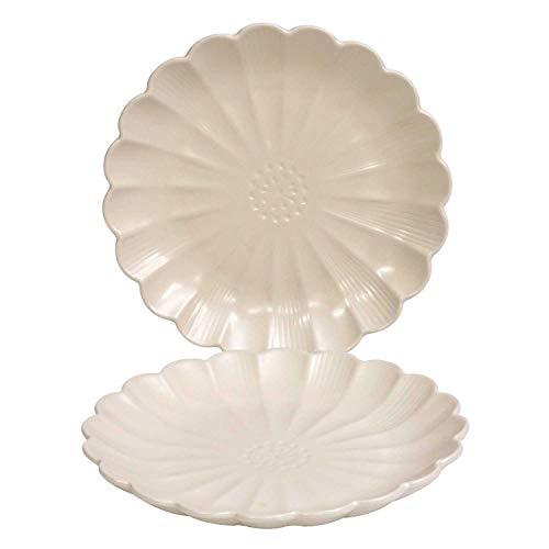シーナカーサ(Shina Casa) 大皿 ホワイト 直径25.5cm 菊型 J0950-001WH 2枚入