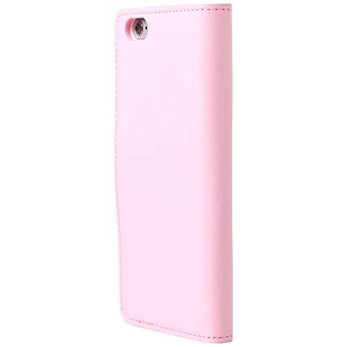 Ultratec Funda protectora de cuero sintético para iPhone 6, con función de soporte y compartimentos interiores, fucsia