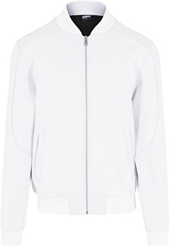 Urban Classics Jacke Neopren Zip Jacket Blouson Homme, Blanc (Weiß), (Taille Fabricant: Small)