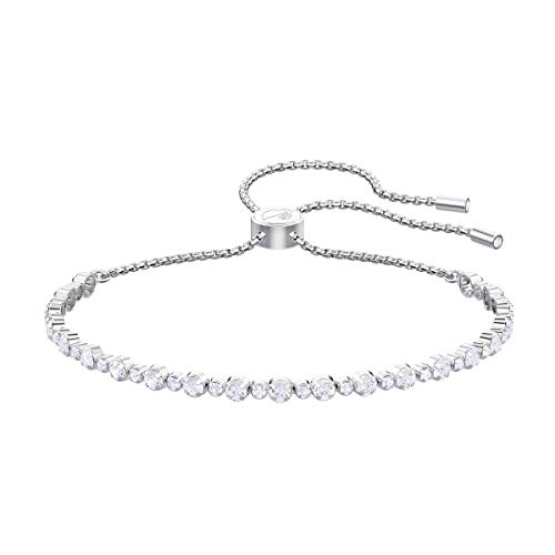 SWAROVSKI Women's Subtle Bracelet Jewelry Collection, Rhodium Finish, Clear Crystals