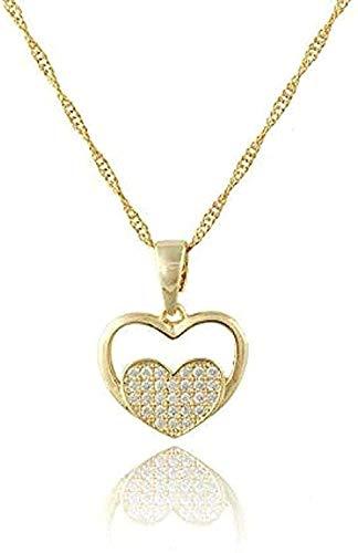 Collar lindo colgante de corazón regalo de la joyería para dama mujeres colgantes y collar de diamantes de imitación de color dorado encanto árabe mujeres regalo para mujeres hombres regalos colgante