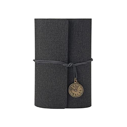 Cuaderno de viaje A6 con cubierta de piel sintética de poliuretano, tamaño A6, con hojas sueltas, hojas sueltas, cuaderno A6, cuaderno de hojas sueltas, cuaderno de notas A6 para negocios