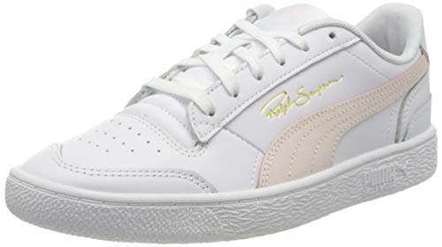 PUMA Ralph Sampson Lo, Scarpe da Ginnastica Unisex-Adulto, Bianco White-Rosewater White, 46 EU