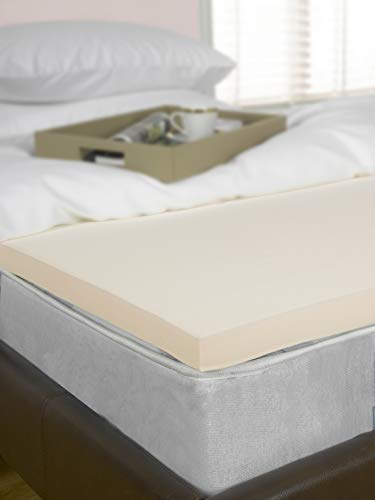 Littens 1' (25mm) Single Bed Size Visco Memory Foam Mattress Topper, Orthopaedic, Support, Pain Relief (3ft, 91cm x 190cm) UK Made