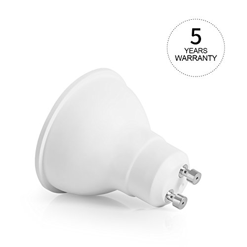 Shape Halogen Replacement Bulb Tracking Spotlight 2700K Warm White Indoor Recessed Cans 6-Pack 50W Equivalent Non-Dimmable LVWIT GU10 LED Bulbs 5W