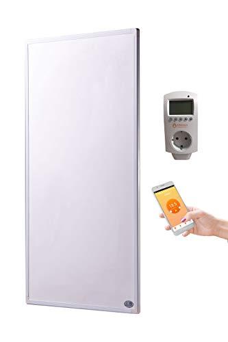 Preisvergleich Produktbild Könighaus Fern Infrarotheizung + Thermostat und App mit Smart Home Lösung Temperatur und Programmierung über Handy app steuerbar GS Tüv (1000 Watt)