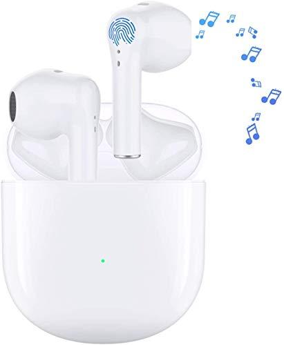Auriculares Bluetooth Auricular Inalámbrico Control Táctil con Graves Profundos In-Ear Auriculares Bluetooth con Caja de Carga Rápida IPX5 Impermeables,para Android/iPhone/Airpods/Samsung