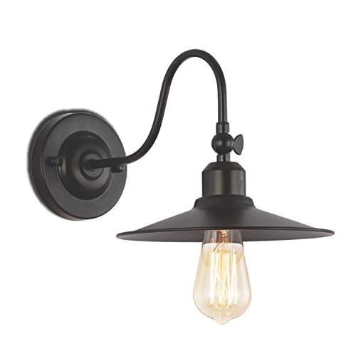LEMORTH Lámpara de la luz de la pared del granero negro, la luz de la pared del granero industrial...