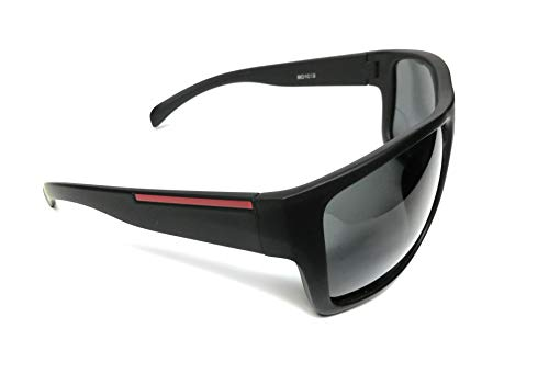KGM Accessories Stilvolle polarisierte Designer-Sonnenbrille – Herren polarisierte Sonnenbrille - Schwarz