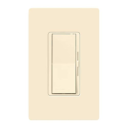 Lutron, Light Almond Diva Dimmer Switch for Dimmable LED, Halogen and Incandescent Bulbs, with Wallplate, Single-Pole or 3-Way, DVWCL-153PH-LA, 1 Pack