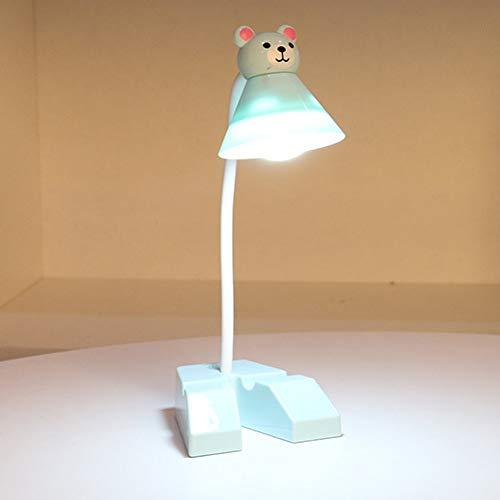 XHSHLID LED bureaulamp met lampenkap van karton Animato met houder voor Push Push Push schakelaar voor in- en uitschakelen tafellamp USB-lamp voor studio