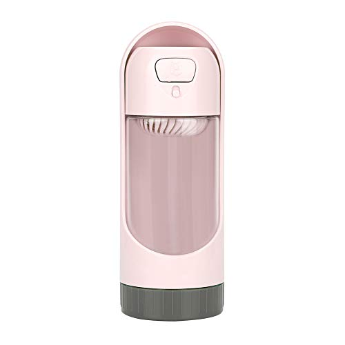 OIHODFHB Dispensador de agua de moda rosa para perros de mascotas portátil de viaje al aire libre cachorros beber botella
