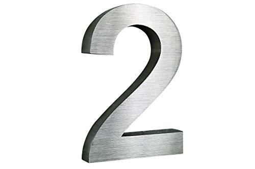 Hausnummer Edelstahl Nr.6 H20cm V2A New-Design in 2D // weitere im Shop !