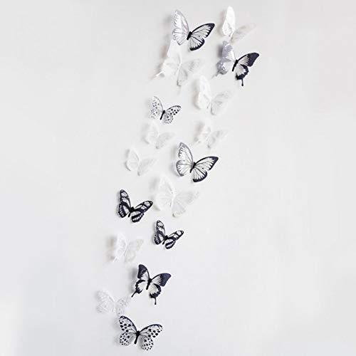 GUDOJK Muursticker 3d effect glas vlinders muur sticker mooie vlinder voor kinderen kamer muurstickers huisdecoratie op de muur