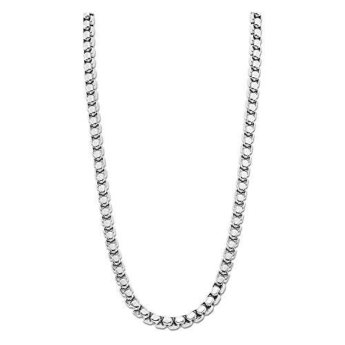 LOTUS Collar de estilo plateado LS1931-1/1 de acero inoxidable para hombre, JLS1931-1-1