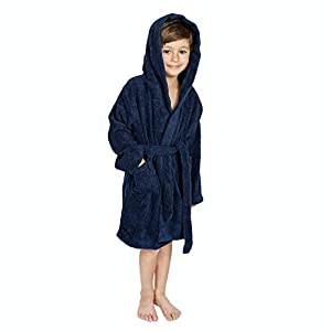 Bagno Milano Kids – Unisex Hooded Organic Bathrobe – GOTS Organic Turkish Cotton – Boys – Girls Robe, Made in Turkey