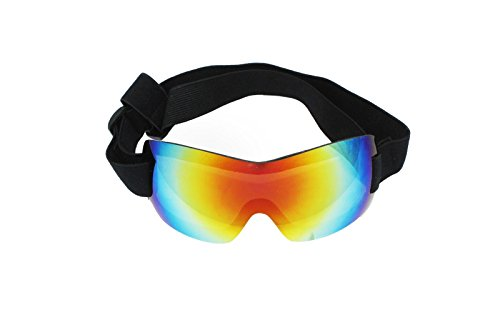 PetRich Dog Sunglasses Ski Goggles Eye Wear UV Protection, Waterproof Multi-Color Pet Sunglasses with Adjustable Strap for Large Dogs Travel, Skiing,Surfing,Driving Including Humanized Design