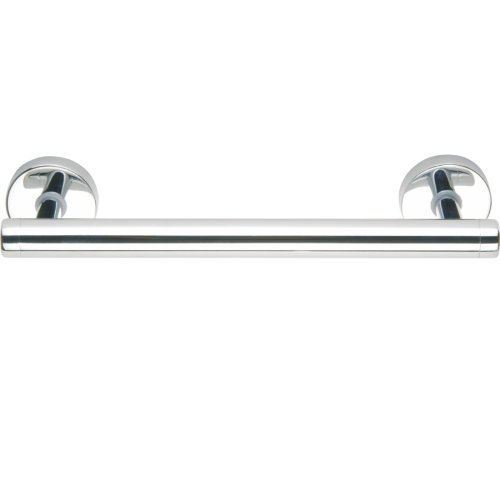 No Drilling Required Draad Premium Solid Brass Euro Grab Bar/Shower Door Handle in Chrome