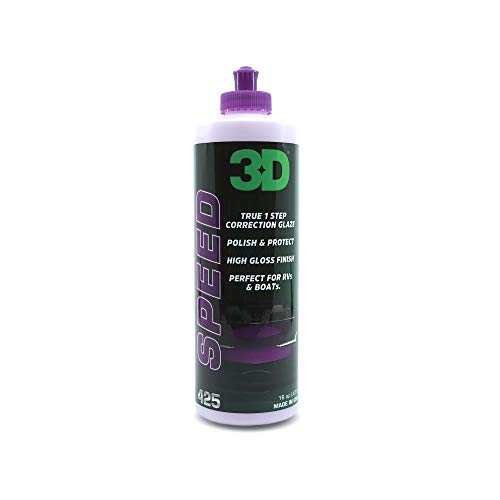 3D Speed All In One Polish & Wax – 16 oz – Clear Coat Car Polish & Wax In One – Paint Protection, Swirl Correction – Perfect for Auto Detailing & Restoration – Gel Coat Friendly