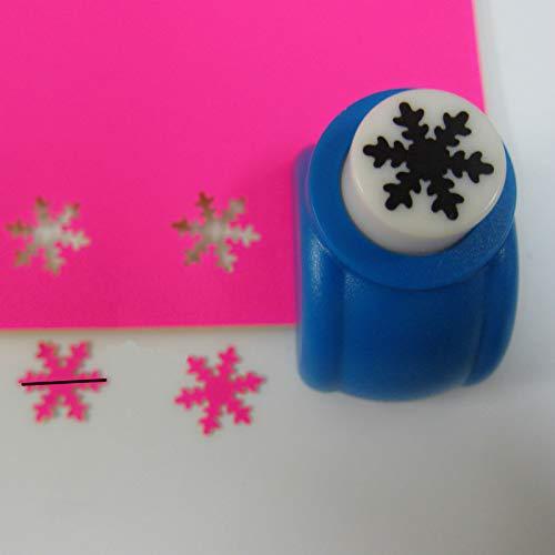 Kubert 3PCS 12mm Mini Paper Craft Punches, Colorful Crafts Puncher Paper Scrapbooking Punches Craft DIY Printing Shaper Puncher (Snowflake)