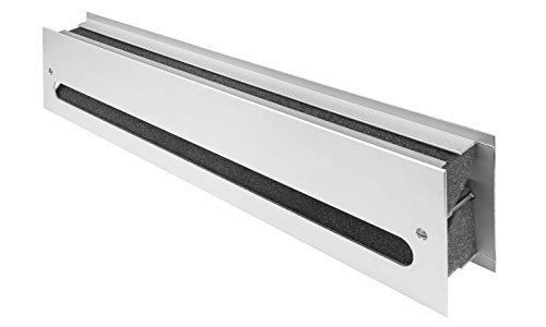 MS Beschläge® schalldämmendes Lüftungsgitter Türlüftung aus Metall nach EN ISO 717-1 (Silber eloxiert F1)