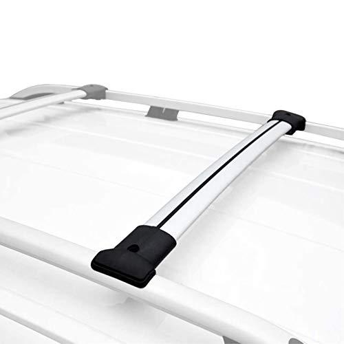 RE&AR Tuning Para Opel Vivaro 3 2014-2021 Barras de techo Portaequipajes Barras Transversales Aluminio Gris