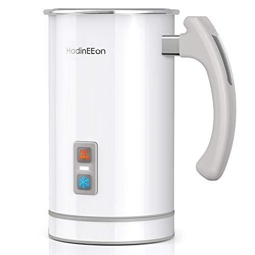 HadinEEon elektrisch Milchaufschäumer 500ml 650w Edelstahl Automatischer Milchschäumer Erhitzen und Aufschäumen für heiße und kalte Milch