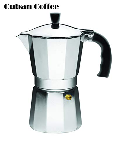 IMUSA USA B120-43V Aluminum Espresso Stovetop Espresso Maker 6-cup, Silver