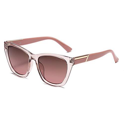 Braune Sonnenbrille Retro Female Moist Anti-UV Round Face Big Face Ausdünnung Polarisierte Sonnenbrille