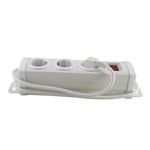 Segula Steckdosenleiste mit Schalter 3fach Weiß Schutzkontakt 50140