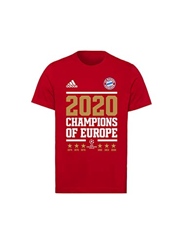 FC Bayern München Kinder T-Shirt Champions of Europe 2020 rot, 164