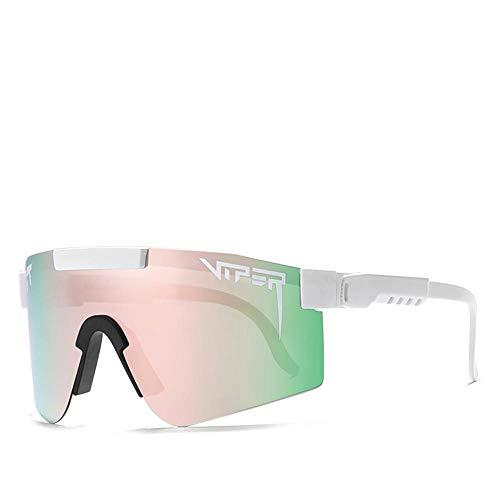 MAWEI Gafas De Sol Al Aire Libre Pit Viper Gafas De Sol Mujeres Hombres Polarizados Que Conducen A Prueba De Viento Gafas De Deportes A Prueba De Viento Uv400, para Correr, Vacaciones, Trekking-C-03