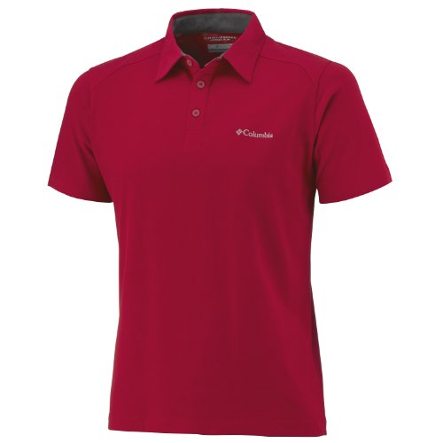 Columbia Sweat Threat Polo pour Homme Small Rouge