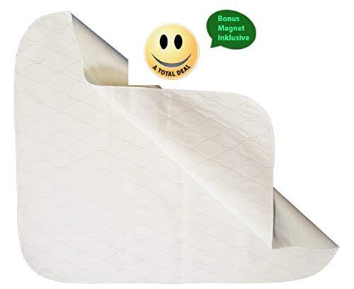 Hochwertige Inkontinenzartikel PU 3-Fach Unterlage 86x75cm Bettschutzeinlage waschbare Matratzenschutz trocknergeeignet für Erwachsene oder für kleine Kinder