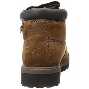 Skechers Men's Sargeants-Verdict Waterproof Boot Ankle Bootie, Dark Brown, 11