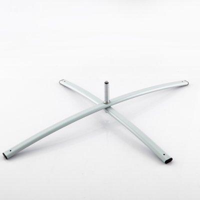DRUCKUNDSO (Zubehör) Kreuzgestell für Beachflag, Silber, 1,8 kg, Fahne, Halter