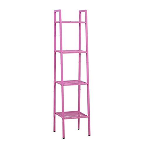 JCNFA Planken Boekenplank Metalen Frame Vintage Opslag Ladder Planken Organizer Planken Voor CD's, Records Home Office Deco A1