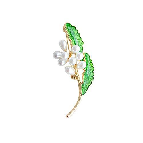 Zxx17 Broche Vintage para Mujer la Ropa,Ropa de Fiesta, ect,Broche de Perlas Hecho a Mano Elegante Retro Retro Aceite de Goteo Flor literaria @ C