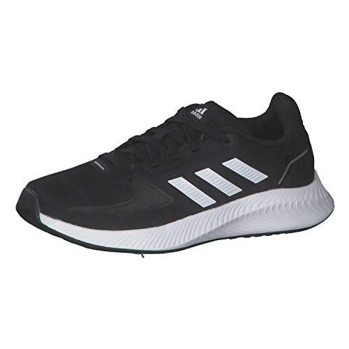 adidas Runfalcon 2.0, Road Running Shoe, Core Black Cloud White Silver Metallic, 38 EU