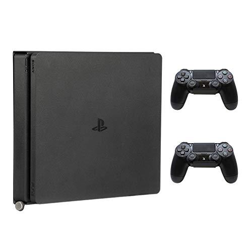 HumanCentric PS4-Halterung für PS4 Slim + 2 Controller-Halterungen im Bundle | Montage an der Wand oder auf der Rückseite des Fernsehers | zum Patent angemeldet
