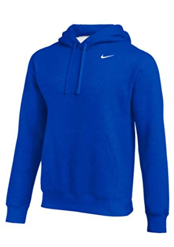 Nike Team Club Pullover Hoodie (Royal/White, Large)