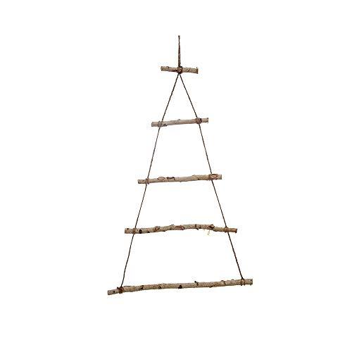 Lsydgn Äste holzleiter Wanddeko Leiter Deko holzleiter Tannenbaum Tannenbaum zum aufhängen Weihnachtsbaum Leiter Wand deko holzbaum Leiter Deko holzleiter Zum hängen und dekorieren (Ohne LED-licht)