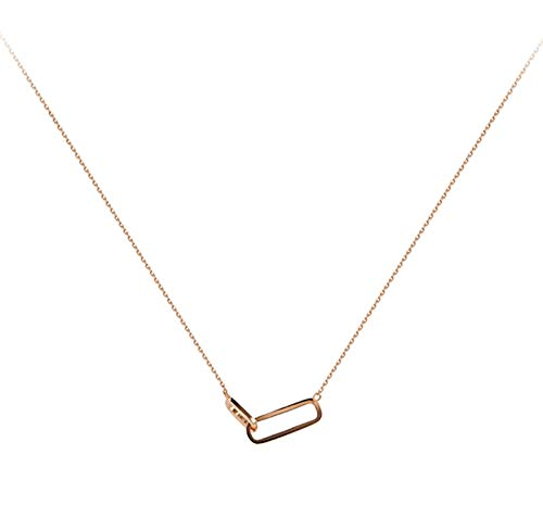 Jstrand Personality Geometric 925 Silver Necklace Space Korean Version Of Personality Elegant Geometric Necklace, Anniversary Christmas And New Year Gifts Boxes