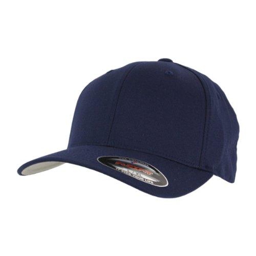 Flexfit Cap Blanko Classic Navy Mütze Kappe Schirmmütze - L/XL